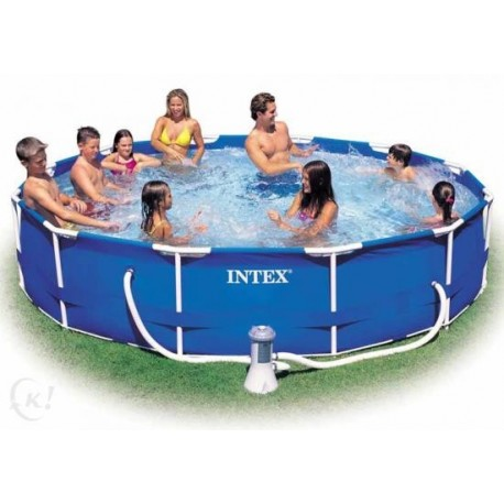 8caf7cd809d7c2 intex metal frame pool rond 366 x 76 cm zwembaden frame pools zwembaden
