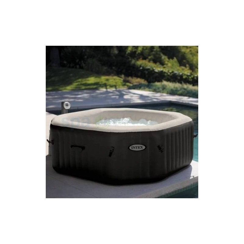Intex pure spa bubble therapy 6 persoons octagon de lux for Ondervloer intex zwembad