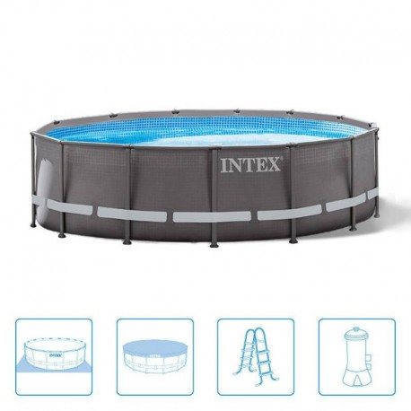 Intex Ultra Frame Pool 427 x 107 cm rond