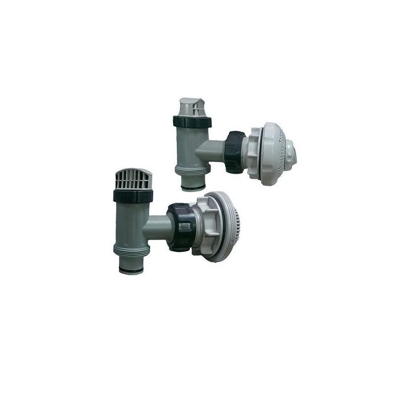 Intex aansluit set in-en-uitlaat fittingset 38 mm