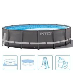 Intex Ultra Frame Pool 488 x 122 cm Rond met zandfilter
