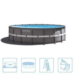 Intex Ultra Frame Pool 549 x 132 cm Rond met zandfilter