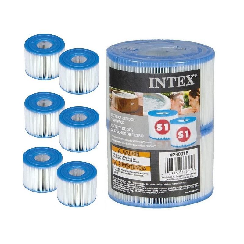 6 x Intex spa Filter type S1 cartridge 29001