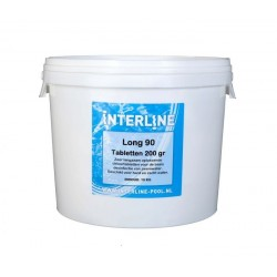 10 kg Chloortabletten Interline Pool chloor tabletten long 90