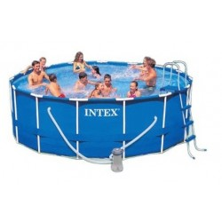 Intex Metal Frame Pool rond 457 x 107 cm zwembad