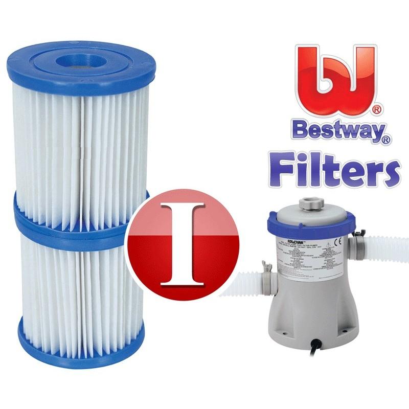 Bestway zwembad filter pomp cardridge type 1 clear flow for Zwembad met filter aanbieding