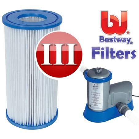 Bestway zwembadpomp filter type 3 carrridge