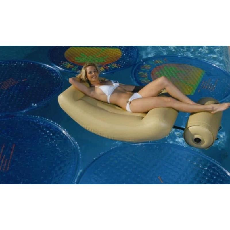 Design zwembad drijfstoel opblaasmeubel sand