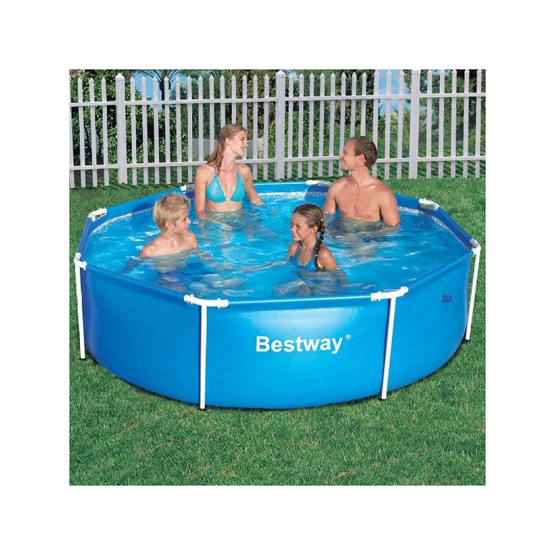 bestway metal frame pool rond 244 x 61 cm zwembaden frame pools zwembaden. Black Bedroom Furniture Sets. Home Design Ideas