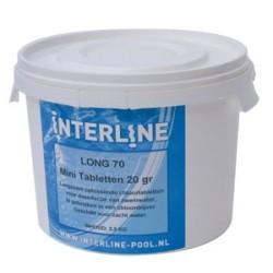 2,5 kg Chloortabletten Interline Pool chloor tabletten long 90
