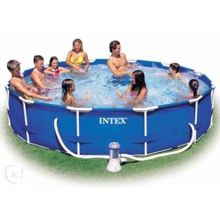 Intex Metal Frame Pool rond 305 x 76 cm zwembad met pomp