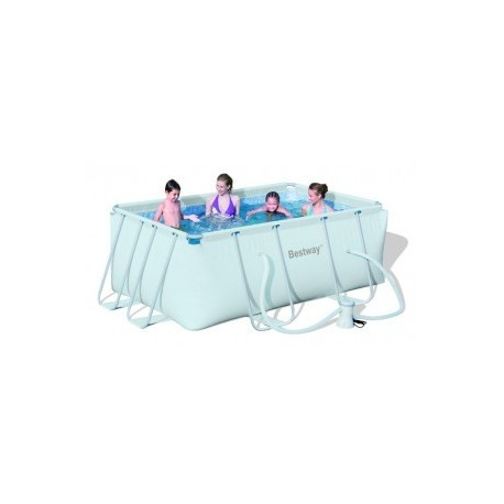 Bestway Frame Pool 287x201x100 cm rectangle zwembad