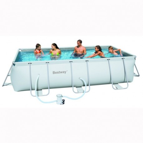 Bestway Frame Pool 412x201x122 cm rectangle zwembad