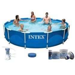 Intex Metal Frame Pool 366 x 76 cm SET aanbieding